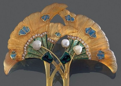 Georges Fouquet Corne, Émail, Diamants, Perles. 1905
