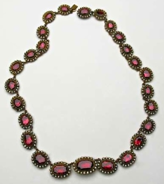 Collier Or, Argent, Grenats 1800