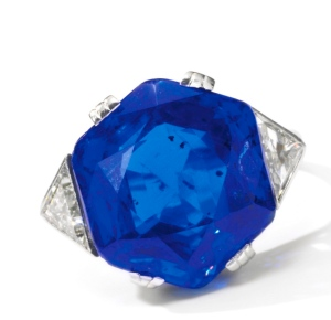 Bague Saphir, Diamants 1930