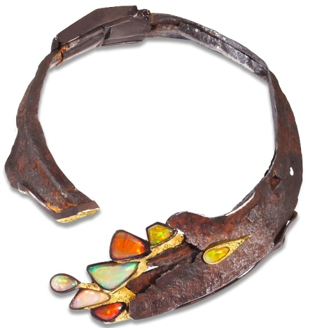 Collier Fusion Opales, Rouille, Or ©thierry vendome